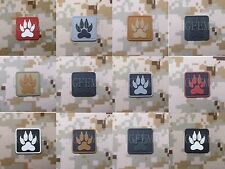 2 pieces BEAR CLAW K-9 DOG TRACKER US Morale of tactical military 3D PVC Patch