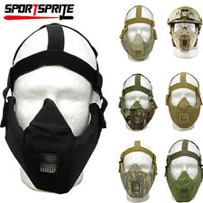 Steel Mesh Airsoft Paintball CSTactical Half Face Mask  Protective Strike Masks