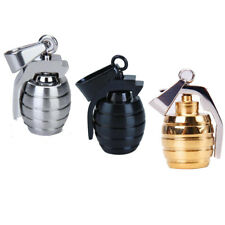 Mens Cool Stainless Steel Grenade Charm Pendant Necklace DIY Accessory