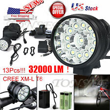32000LM Waterproof 13x XM-L T6 LED 6x18650 Bicycle Front Head Lamp Cycling Light