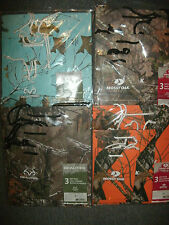 3 Multi Size GIFT BAGS Mossy Oak Realtree Brown CAMO Orange Teal Country Party