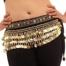 Belly Dance Dancing Hip Scarf Skirt Wrap Velvet Chain Tribal Waist Belt Skirt