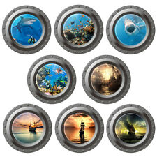 3D Ocean Sea Fish Porthole Wall Decal Vinyl Art Kids Room Decor Sticker Mural BD