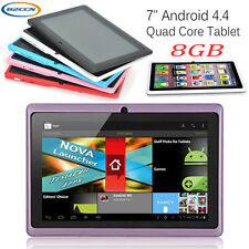 7 inch Android 4.4 A33 Quad Core Tablet PC 4/8GB WIFI Bluetooth HD Touch Scree