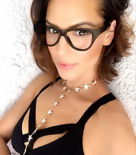 """Miss Sexy Kitty"" Clear Lens Eyeglasses Women Cateye Thick Frame Glasses Shades"