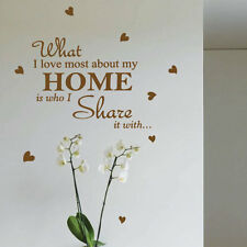 Family Home Love Heart Art Wall Stickers Quotes Wall Decasl Wall Decoration