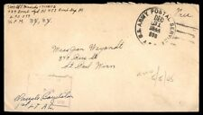 1944 APO free franked cover to St. Paul Minnesota US censored