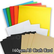 Premier A3 160 gsm Coloured Activity Craft Card - Black, Rainbow, Ivory & White.
