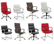 High Back Executive Eames Style Ribbed Office Visitor Computer Managers Chair