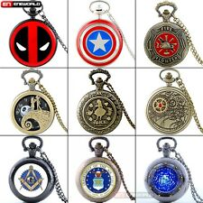 Vintage Steampunk Classic Quartz Pocket Watch Women mens Gift Necklace Chain Lot