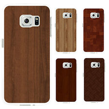 Natural Wood Grain Print Back Case Cover for iPhone 6 7 Plus Samsung Note Eyeful