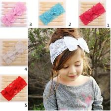 Lovely Kids Baby Girls Lace Bowknot Headband Toddler Headwear Accessories