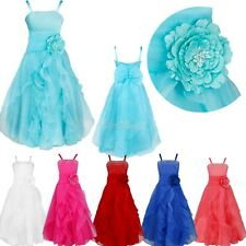 Flower Girl Pageant Birthday Party Princess Wedding Bridesmaid Formal Tutu Dress