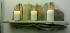Handmade Natural Rustic Driftwood Candle Wall Shelf