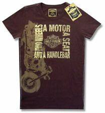 Harley Davidson Trunk LTD Two Wheels Girls Juniors Brown T Shirt New Official