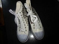 Penny Sue Corporal Beaded Women's Hi Top Athletic Shoes Lace Up Sneakers White