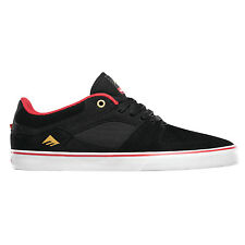 EMERICA Skateboard Shoes HSU LOW VULC CHOCOLATE BLACK/RED/WHITE