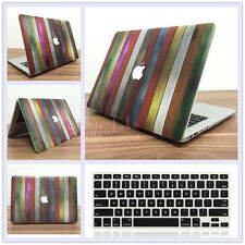 "Wooden Pattern #1 Hard Case+Keyboard Cover for MacBook 12"" Air Pro 11"" 13"" 15"""