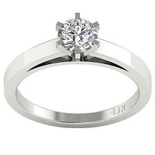 SI1 G 0.50Ct Natural Diamond Solitaire Engagement Ring Appraisal 14Kt White Gold