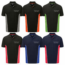 Personalised Embroidered Polo Shirt Silverstone Text or Logo Custom Printed