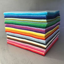 WOOL MIX CRAFT FELT SQUARES PACK || 71 colours per pack - choice of size
