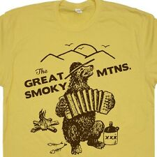 The Great Smoky Mountains T Shirt Smokey Bluegrass Bear Funny Vintage Camping T