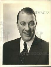 1936 Press Photo Graham McNamee, veteran NBC announcer and MC - sbs05889