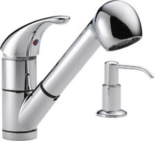 """Peerless Faucets 12"""" Single Handle Widespread Kitchen Faucet with Soap Dispenser"""