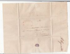 Indonesia Karawang to Batavia 1850 Stampless Cover & Letter