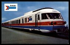 AMTRAKS JET POWERED TURBOLINER TURBINE TRAIN COLORED UNUSED POSTCARD