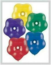 """Qualatex Geo Blossom Flower Shaped 6"""" Balloons x 50 - You Choose The Colour"""