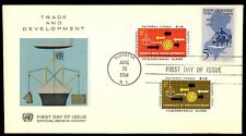 June 15, 1964 trade and development first day cover with cachet