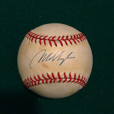 RED SOX 1995 AL MVP MO VAUGHN SIGNED AND GAME USED OFFICIAL AL BASEBALL