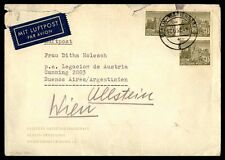 150 rate franking Germany airmail cover to Argentina Buenos Aires