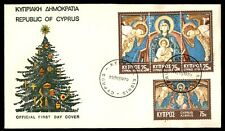 Republic of Cyprus religious issue Christmas first-day cover illustrated