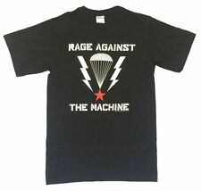 Rage Against The Machine Parachute Star Image Black T Shirt New Official RATM