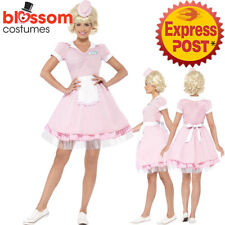 CA163 1950's Diner Girl Waitress Rock N Roll Nifty Soda Pop Fancy Dress Costume