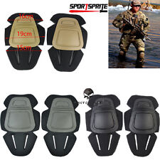 Tactical Military Paintball Skate Knee Pads Airsoft Combat Protective Set 3Color