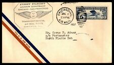 CHICAGO IL JUL 1 1927 FFC CAM AIR MAIL COVER W/ NORTH PLATTE NE BACK STAMP