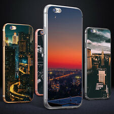 3D CITY NIGHT SCENERY CASE COVER FOR IPHONE 6S 7 PLUS SAMSUNG GALAXY S7 COMELY