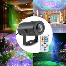 7 Color Remote RGB LED Water Wave Ripple Effect Stage Lighting Party Bar DJ R6F7