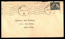 South Africa cover with wavy line cancel to Cape Town South Africa