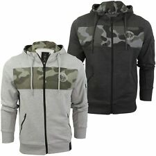 Mens Hoodie with Camo Panel by Crosshatch 'Camden'
