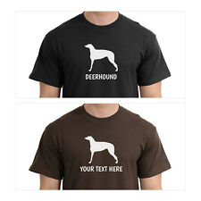 Scottish Deerhound Silhouette T-Shirt, Men Women Youth Long Personalized tee dog