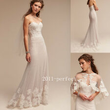2017 Simple Wedding Dress with Cape A Line Strapless Bridal Gowns Free Shipping