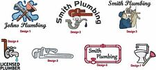 6 New Shirts Embroidered Free4Ur Plumbing Plumber Business Company