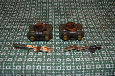 AMERICAN FLYER LINES PREWAR O GAUGE TRUCKS WITH LINK COUPLERS FROM 3207 GONDOLA