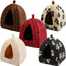 Pet Dog Cat Bed Igloo Huts House Puppy Kitten Bed Mat Pad Kennel 5 Colors