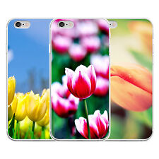3D TULIPS FLOWER PATTERN PHONE CASE COVER FOR IPHONE 4 SAMSUNG GALAXY S5 COMELY