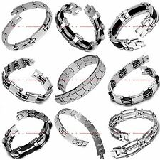 BBRM0096 MANY STYLES MEN'S STAINLESS STEEL CHAIN LINK CUFF BANGLE BRACELET